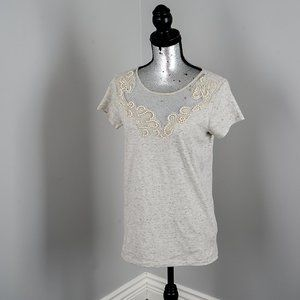 NWOT Guess pearl embellished T shirt - Small
